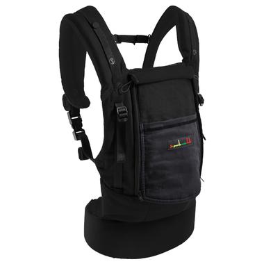 Porte-bébé Physiocarrier tablier noir poche anthracite - JPMBB fermé
