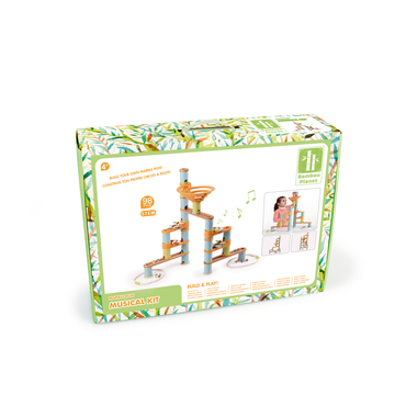 boite 98 pieces kit musical bamboo planet