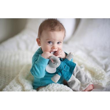 enfant Eléphant Alvin  Doudou avec tête en caoutchouc naturel