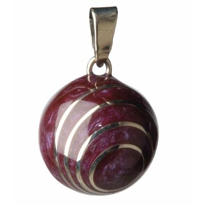 Bola de grossesse spirale aubergine