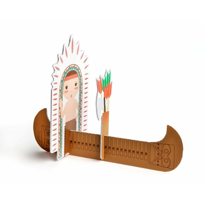 Carte postale Kidsonroof - Indien - Totem Pop out cards