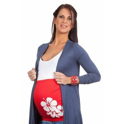 Bandeau de grossesse Hibiscus Rouge