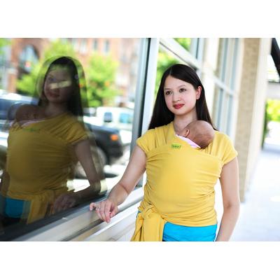 Boba Wrap Yellow - Écharpe de portage en coton bio