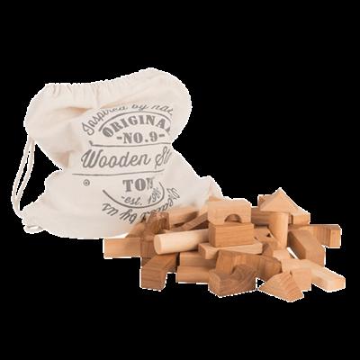 Blocs en bois Naturel en sac - 50 pièces XL