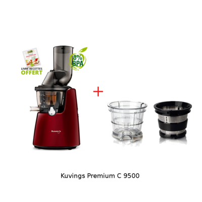 kuvgings 9500 et kit smoothie - rouge