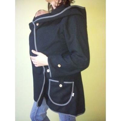 MaM Manteau Porte Bébé - MaM Motherhood Coat - Noir