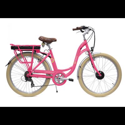 Vélo Electrique Femme - E Colors rose acidulé - Arcade