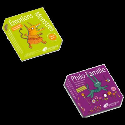 2 jeux de cartes Pourpenser