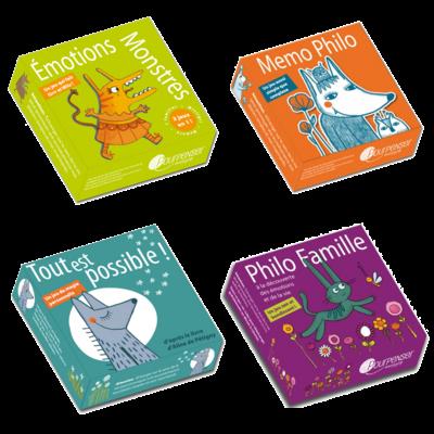4 jeux de cartes Pourpenser