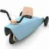 porteur- moto 2 en 1 bleu - chou du volant