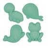 Set de 4 moules de plage en silicone - Scrunch - menthe