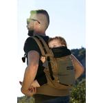 Porte-bébé JPMBB - PhysioCarrier Safari poche Olive - dos