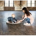 Wobbel360 transparent laqué avec feutre gris - bébé