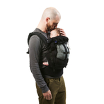 Porte-bébé PhysioCarrier  Love Radius - tablier Noir Poche Iris
