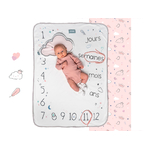 Couverture snap the moment 100% coton Dusty Pink