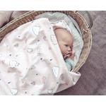 Couverture photo bébé 100% coton Dusty Pink