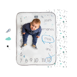 Couverture bébé snap the moment coton Minty White