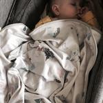 Couverture  bébé snap the moment coton Savana - boite