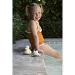jouet de bain en caoutchouc naturel hevea - canard et grenouille
