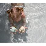 jouet de bain hevea en caoutchouc naturel recyclé - canard et grenouille  de bain