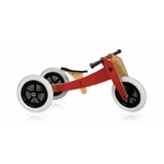 Draisienne en Bois Evolutive - Wishbone Bike Rouge 3 en 1
