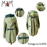 MaM Motherhood Coat – Manteau de portage déperlant - olivine cristal