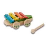 jouet en bois à tirer- crocodile everearth