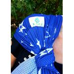 écharpe de portage sling sukkiri bleu étoile