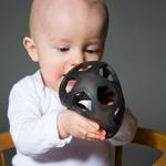 jouet caoutchouc naturel Star ball Hevea noir