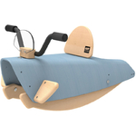 Bascule en Bois bleu Moto pour Enfant