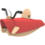 Bascule en Bois rouge Moto pour Enfant (6)