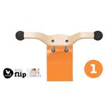 top orange mini flip