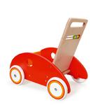 chariot de marche en bois - voiture  rouge