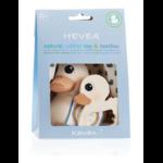 Jouet de Bain Kawan le canard et anneau de dentition hevea - cadeau de naissance