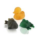 3 jouets de bains colorés