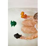 hevea - 3 jouets de bains colorés - caoutchouc naturel