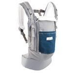 Porte-bébé JPMBB PhysioCarrier Eléphant poche Bleu Paon fermé
