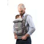 Porte-bébé JPMBB PhysioCarrier Eléphant poche Bleu Paon homme ouvert