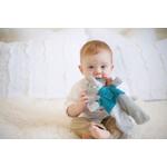 bébé Eléphant Alvin  Doudou avec tête en caoutchouc naturel