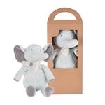 tikiri peluche éléphant collection coton biologique- boite 2
