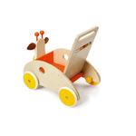 chariot de marche en bois girafe