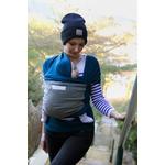 écharpe de portage loriginale Love Radius Bleu paon - élephant - life style
