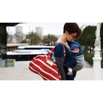 écharpe de portage loriginale Love Radius Bleu paon - élephant - main libre