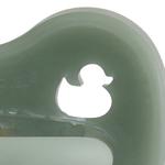Tétine physiologique colorée Hevea - Canard Amande - Moss Green