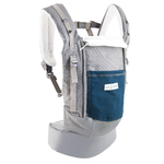 Porte-bébé PhysioCarrier Eléphant poche Bleu Paon - Love radius - jpmbb - ouvert