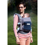 Porte-bébé PhysioCarrier Eléphant poche Bleu Paon - Love radius - jpmbb