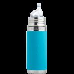 gourde pura Isotherme avec embout bec 260ml -6m+ - bleu