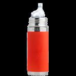 gourde pura Isotherme avec embout bec 260ml -6m+ - orange