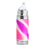 gourde pura Isotherme avec embout bec 260ml -6m+ - pink swirl