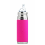 gourde pura Isotherme avec embout bec 260ml -6m+ - rose